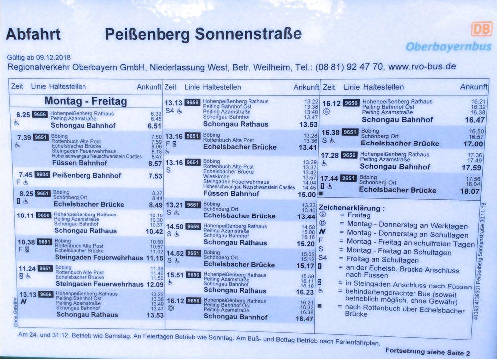 Abfahrten von Haltestelle Pbg. Sonnenstr., Ri. SOG, Mo.-Fr. Teil 1
