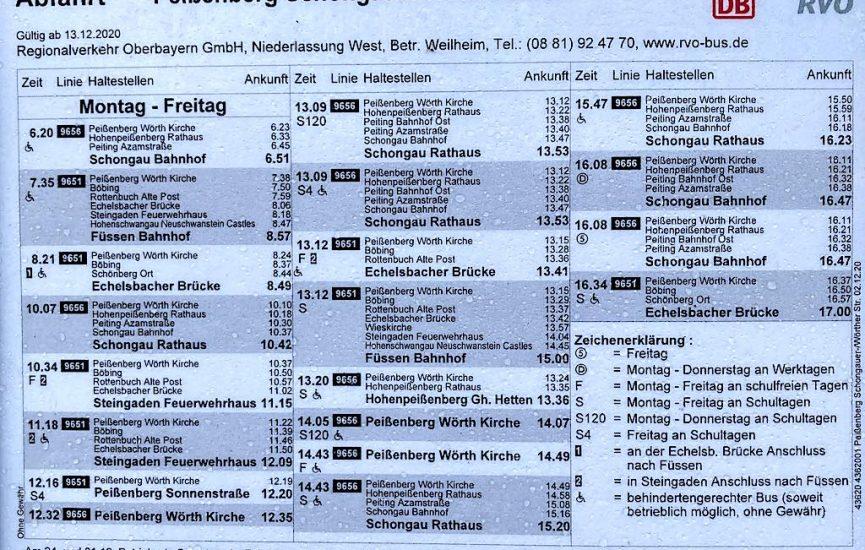 Pbg. Schongauer-/Wörther-Str., Ri. SOG/Füssen, Mo.-Fr. Teil 1