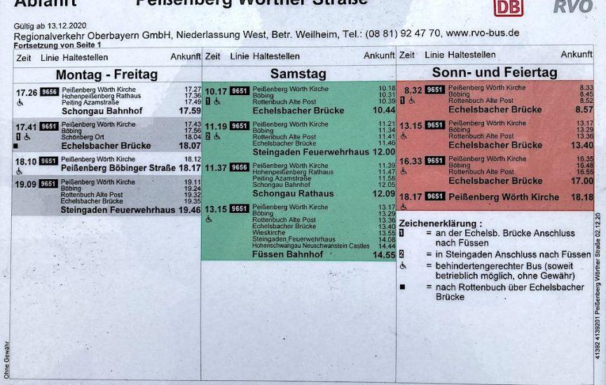 Pbg. Wörther Str., Ri. SOG, Mo.-Fr. Teil 2, Sa./So.