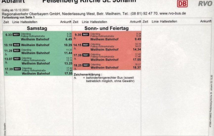 Pbg., Kirche St. Johann, Richtung WM, Sa./So.